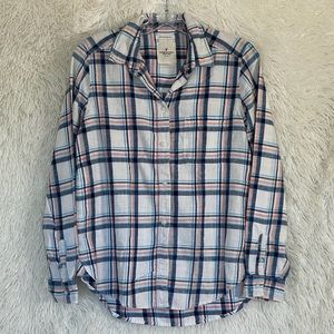 American Eagle Boyfriend Fit Plaid Shirt Size S